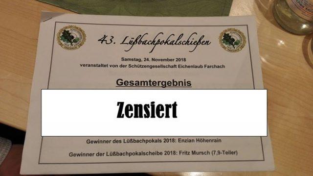 Lüßbachpokalschießen 2018